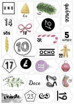 Nuevo lote de tipografías bonitas de The Hungry JPEG. Con el contenido he creado unas etiquetas imprimibles para preparar el calendario de adviento