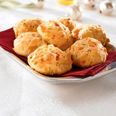 Red Pepper Asiago Gougère Bites Recipe from Land O'Lakes