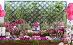Girls party decoration, mesa para meninas, tea party, girls party ideas, flowers arrangement, pink,