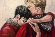 """artgroves: """" """"It's all right, Merlin,"""" he said softly. """"I'm here."""" for @touchofstrange x """" This soft pastel painting (9 inches high, 13 inches wide on paper) will be auctioned at Fandom Loves Puerto Rico The auction will go live at 9am EST, Tuesday..."""