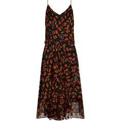 Diane Von Furstenberg Benita dress ($478) ❤ liked on Polyvore featuring dresses, black pink, diane von furstenberg dress, velvet dress, pink glitter dress, wrap dress and pink sequin dress