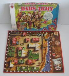 Dad's Army board game Old Board Games, Vintage Board Games, Game Museum, Army Games, Dad's Army, Bbc Tv Series, Gaming Station, Old Toys, Old And New