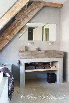 #marrakechwalls Kleur Earth Stone. Afwerking voor badkamer met Dead Flat Eco Sealer.    Credits: Wonen Landelijke stijl aug - sept 2010. Fotografie: S. van Hove. Locatie foto: http://www.stylexclusief.nl/