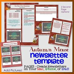 PAGES Modern Newsletter Template Set - Create on the Go Using ...