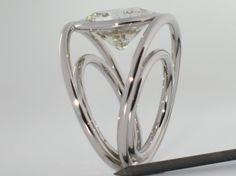Bague Praha or blanc Diamant 7,55 carats 1