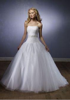ball gown straples white wedding dress