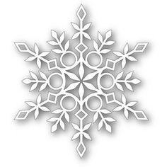 Simon Says Eliza Snowflake Die 111308 Diy Christmas Snowflakes, Snowflake Craft, Snowflake Decorations, Paper Snowflakes, Snowflake Designs, Christmas Crafts, Paper Snowflake Template, Snowflake Images, Christmas Tag