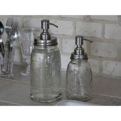 słoik z dozownikiem #soapfeeder #soap #dishwashingliquid #glass #vintage