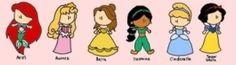 Ariel, Aurora, Belle, Jasmine, Cinderella, Snow White - See this image on Photobucket.