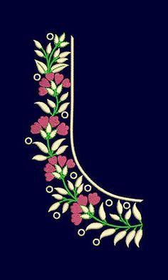 1 new message Best Blouse Designs, Simple Blouse Designs, Bridal Blouse Designs, Saree Embroidery Design, Embroidery Neck Designs, Embroidery Fashion, Saree Painting Designs, Hand Work Blouse Design, Party Wear