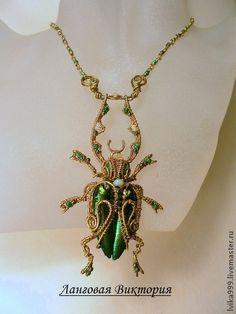 """Pendants handmade. Fair Masters - handmade Pendant """"Beetle"""" .. Handmade."""