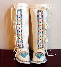 Beaded Southern Womens' boot Moccasins