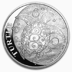 2014 FJ Silver Fiji Turtle One Ounce Coin Limited Time Offer Dollar Uncirculated Mint