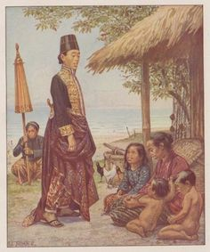28 Beautiful Images Of Batik In Indonesian History Old Posters, Vintage Posters, Bali Painting, Indonesian Art, Dutch East Indies, Dutch Colonial, Drawing Projects, Cyberpunk Art, Old Paintings