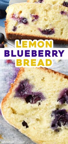 This Blueberry Lemon Bread is a buttery and moist quick bread dessert or snack cake, with lemon curd and fresh blueberries swirled throughout, then topped with a silky sweet glaze. Such an easy recipe for breakfast or brunch, with fresh fruit for summer or frozen fruit throughout the year! Blueberry Bread Recipe, Blueberry Loaf, Blueberry Recipes, Easy Bread Recipes, Quick Bread, Cake Recipes, Lemon Recipes, Fresh Fruit Cake, Frozen Fruit
