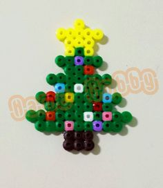Christmas tree hama perler beads by Love Cupcoonka - www.facebook.com/hamabeadshobby