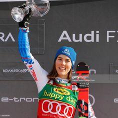 Petra Vlhova of Slovakia takes place during the Audi FIS Alpine Ski World Cup Women's Slalom on February 2020 in Kranjska Gora Slovenia. Get premium, high resolution news photos at Getty Images Ski Sunday, Alpine Skiing, 1 Place, Petra, Sports Women, Audi, Bohemian, Notes, Female
