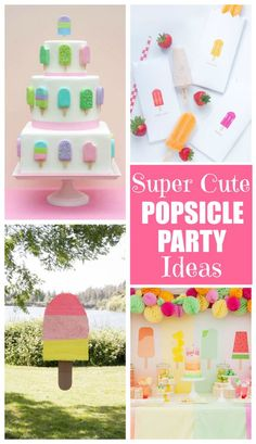 These super cute popsicle party ideas are the perfect way to end the summer!