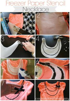 Freezer Paper Stencil Necklace http://cookandcraftmecrazy.blogspot.com/2013/07/freezer-paper-stencil-necklace.html