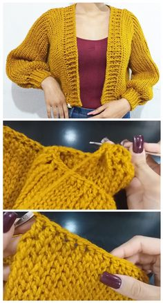 Pull Crochet, Crochet Diy, Crochet Woman, Crochet Tops, Tutorial Crochet, Crochet Tutorials, Crochet Projects, Sewing Projects, Small Knitting Projects