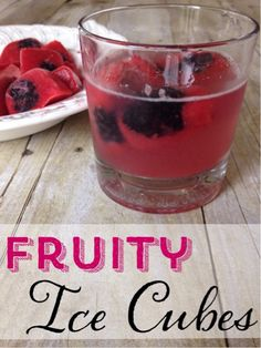 These fruity ice cubes are so easy to make. Try them in some sprite for a great fruity treat.
