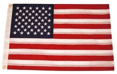 "12x18 Yacht Boat Ensign Nautical US USA American Flag Fully Sewn 2ply 12""x18"" -- Awesome products selected by Anna Churchill"