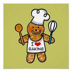 Shop I love baking (gingerbread man cookie) postcard created by jsoh. Gingerbread Man Cookies, Christmas Gingerbread, Christmas Goodies, Christmas Time, Bakery Quotes, Foodie Quotes, The Joy Of Baking, Make Your Own Poster, Bake Sale