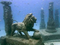 This picture is circulating as an Alexandrian (Egypt) temple nearly two millenniums old that has sunk into the sea/ocean. It is not. It is an underwater cemetery project in Florida. I just think it's cool. For all my mermaid lovers out there! http://www.foxnews.com/story/0,2933,354862,00.html