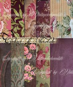 Shabby Chic Wallpaper Floral Vintage Digital by VintageLeChocolate