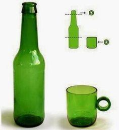 """DIY : """"CUT'N PASTE"""", cup from the bottle 