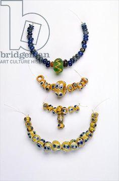Iron age celtic glass beads