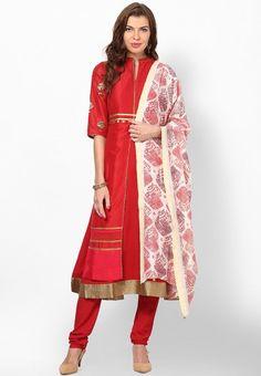 Cotton Blend Red Solid Suit Set for Navratri @ http://www.jabongworld.com/cotton-blend-red-solid-suit-set-1026279.html/?&utm_source=Organic&utm_medium=pinterest&utm_campaign=suitset #navrarti #suitset #navratri2014
