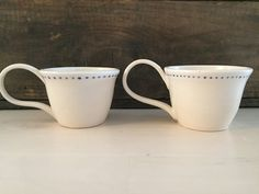 2 Porcelain dot Cups by VAceramics on Etsy