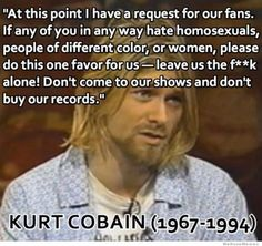 Kurt Cobain on hate