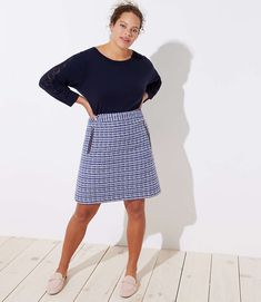 7657cf1a3e7 Find sales on LOFT Plus Tweed Zip Pocket Shift Skirt and other deeply  discounted products at Shop Scenes.