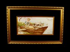 WONDERFUL-PAINTING-ON-PORCELAIN-SOLACE-A-WOMAN-IN-A-BOAT-BY-ARTIST-KAY-COX