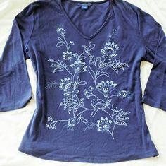 """NEW Karen Scott Petites XL Blue Mykonos Top Brand New.  100% cotton.   Sleeve 19"""" Chest 23"""" across  Length 25"""" Karen Scott Tops Tees - Long Sleeve"""