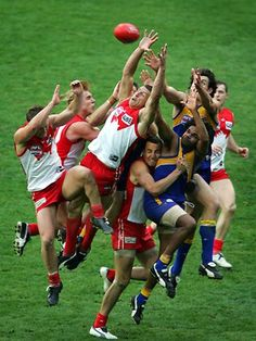 The mark that did it - Leo Barry's mark in the dying seconds of the 2005 Sydney Swans grand final win