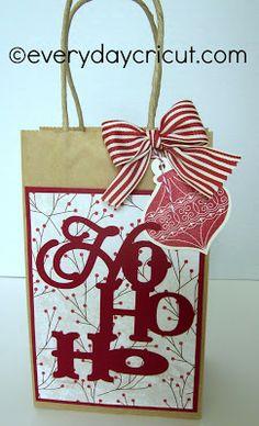 Ho Ho Ho Close to My Heart Artiste Cricut Gift Bag