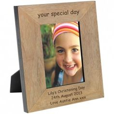 Engraved Your Special Day Wood Photo Frame - from Personalised Gifts Shop - ONLY Personalised Gift Shop, Personalized Photo Frames, Bride And Groom Gifts, Wood Photo, Back To School Gifts, Engraved Gifts, Christening Gifts, Day Lilies, Engagement Gifts