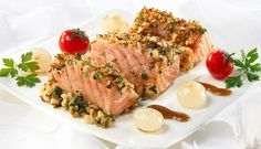 Sesame Almond Crusted Norwegian Salmon
