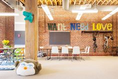 S.F.'s COOLEST Start-Up Offices, Revealed #refinery29 http://www.refinery29.com/san-francisco-startups#slide18 This wall (and slogan!) is fitting, because we want, need, and love Wanelo's space.