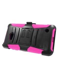 Insten Hard PC/ Silicone Dual Layer Hybrid Case Cover with Stand/ Holster For Microsoft Lumia 640