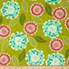 Moda Spring House Anabelle Basil. Designed by Stephanie Ryan, licensed to Moda Fabrics