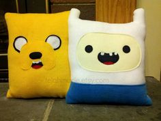 Adventure Time inspired pillow, Finn and Jake, Throw pillow , Beemo, Marceline on Etsy, $31.83 CAD