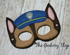 Chase Paw Patrol Dress Up Mask Party Favors by TheGeekeryStop