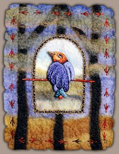 Renee Harris: A Balancing Act ~ felted wool, embroidery