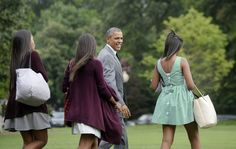 Pin for Later: 36 Times Sasha Was the Most Stylish Member of the Obama Family When She Made a Stylish Exit, Showing Off Her Dress's Back Buttons