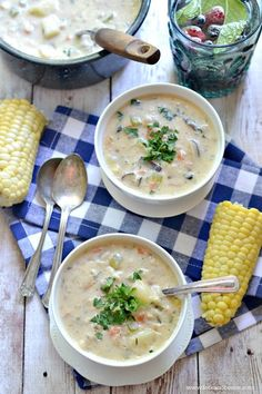 """Vegan """"Clam"""" Chowder - Fork and Beans: Healthy Kids. Happy Moms."""