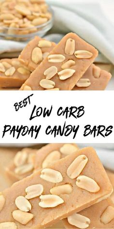 Peanut Butter Candy, Low Carb Peanut Butter, Chocolate Peanut Butter Cups, Low Carb Candy, Keto Candy, Payday Candy Bar, Candy Recipes, Keto Recipes, Sugar Free Sweets